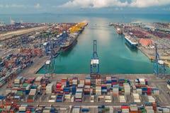 logistisk port arkivbilder