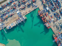 logistisk port arkivfoto