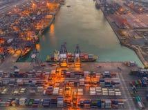 logistisk port royaltyfria foton