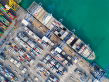 logistisk port royaltyfri foto