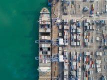 logistisk port arkivfoton