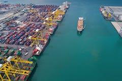 logistisk port royaltyfri bild