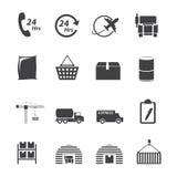 Logistisk symbolsuppsättning Royaltyfria Bilder