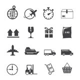 Logistisk symbolsuppsättning Royaltyfri Bild