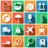 Logistiska företagstecken Vektor Illustrationer