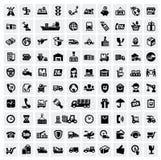 Logistiska och sändningssymboler royaltyfri illustrationer