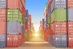 Logistiskt begrepp för import, för export och för affär royaltyfri fotografi