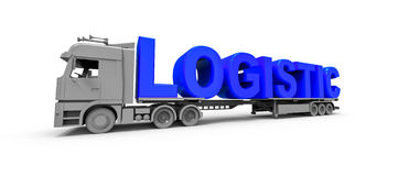 Logistycznie ciężarowy pojęcie Obrazy Stock