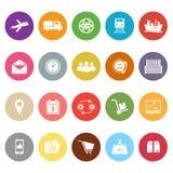 Logistycznie płaskie ikony na białym tle Zdjęcia Stock