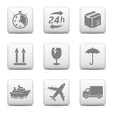 Logistycznie sieć guziki Obrazy Stock