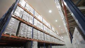 Logistycznie sklad Tovar półki zbiory wideo