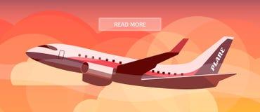 Logistycznie trasa samolotu banne ilustracji