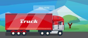 Logistycznie trasy ciężarówki sztandar ilustracji