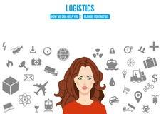 Logistyk usługa projekta pojęcie Zdjęcia Royalty Free