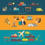 Logistyka sztandar Horyzontalny ilustracji