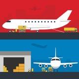 Logistyka sztandaru infographic set Płaski wektor ilustracji