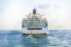 Logistyki i transport Międzynarodowy zbiornika ładunek sh zdjęcie stock