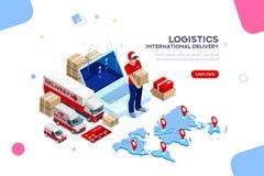 Logistyki Międzynarodowa dostawy dostawy sieć Obraz Royalty Free