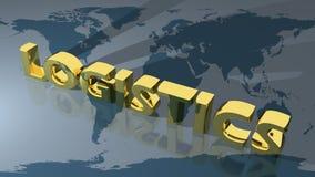 Logistyki na całym świecie Zdjęcia Royalty Free