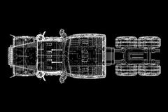 Logistyki - Przewożący samochodem zdjęcie stock
