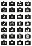 Logistyki usługują dookoła świata ikony ustawiać Obraz Royalty Free