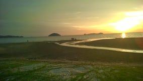 Logkawi захода солнца Стоковое фото RF
