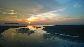 Logkawi захода солнца Стоковые Изображения RF