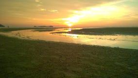 Logkawi de coucher du soleil Photos stock