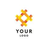 Logo à chaînes Logotype abstrait Illustration de vecteur illustration de vecteur