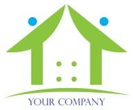 Logo à la maison illustration stock