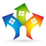 Logo à la maison illustration libre de droits