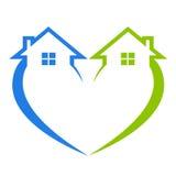 Logo à la maison Image libre de droits