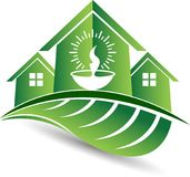 Logo à la maison d'écologie Photos libres de droits