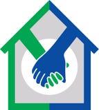 Logo à la maison d'affaire illustration de vecteur