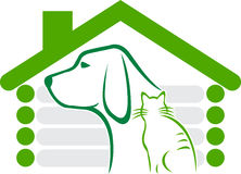 Logo à la maison d'animal familier Photos stock