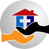 Logo à la maison de loquet illustration libre de droits