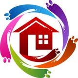logo à la maison de peinture illustration de vecteur