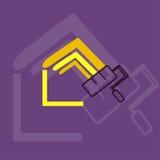 Logo à la maison de peinture Photographie stock libre de droits