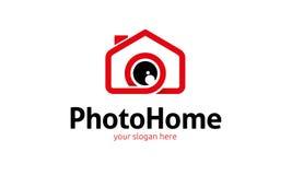 Logo à la maison de photo Photos libres de droits