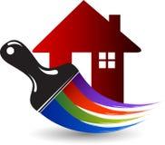 Logo à la maison de réparation de peinture illustration stock