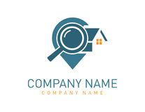 Logo à la maison de recherche Image libre de droits
