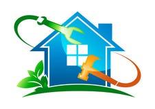 Logo à la maison de service Photo stock