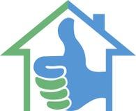 Logo à la maison de succès Photographie stock libre de droits