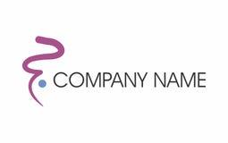 Logo à main levée de course Image stock