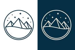 Logo égyptien de pyramides Photographie stock libre de droits