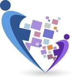 Logo élégant de couples Photographie stock libre de droits