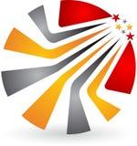 Logo élégant de feuille illustration stock