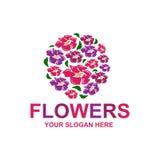 Logo élégant de fleurs Photos stock