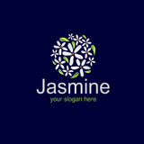 Logo élégant de jasmin Images stock