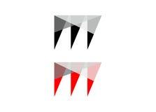 Logo énervé de m Images libres de droits